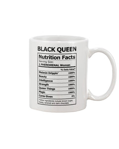 Black Queen Nutrition Facts Mug