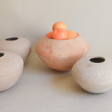 A set of ceramic vases handcrafted in Guadalajara, Mexico.