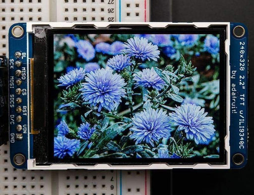 2.2 18-Bit Color Tft Lcd Display With Microsd Card Breakout (Id: 1480) - Lcd Displays