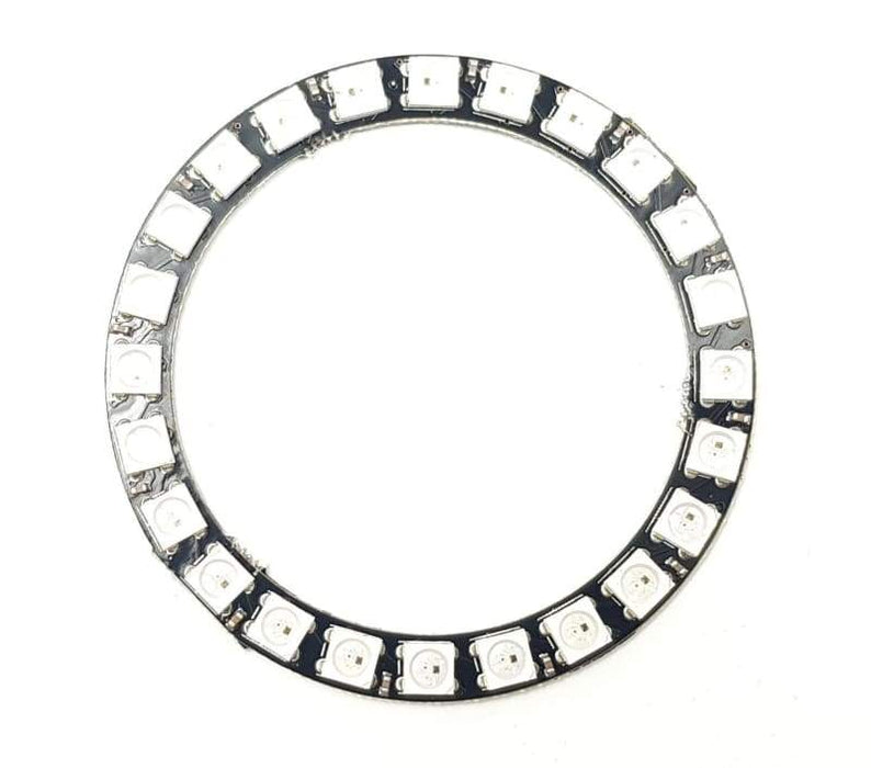 24 Led Ring - Sk6812 5050 Rgb Led With Integrated Drivers (Adafruit Neopixel Compatible) - Leds