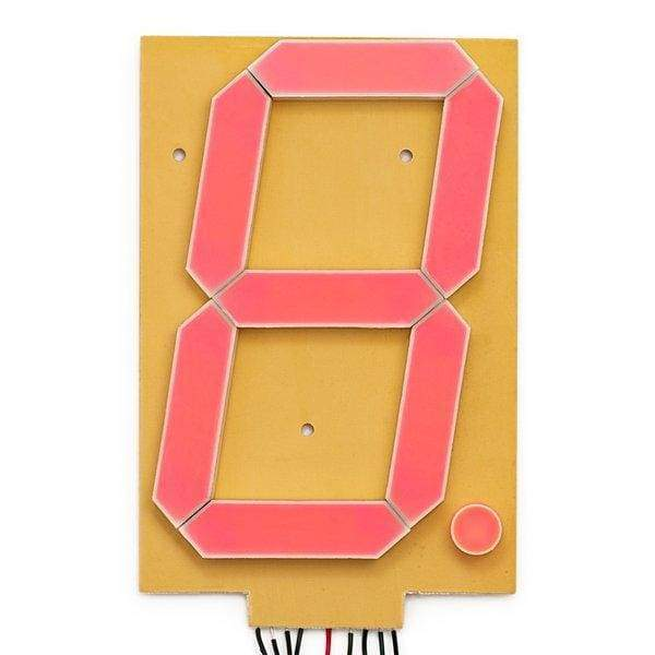 7-Segment Display - 6 (Red) (Com-08530) - Other