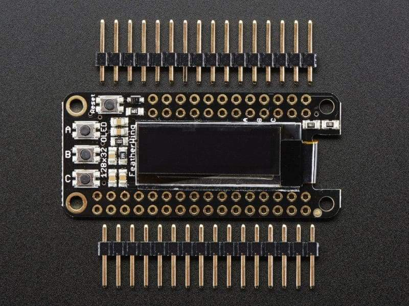 Adafruit FeatherWing OLED - 128x32 OLED Add-on For Feather (ID:2900) - OLED Displays