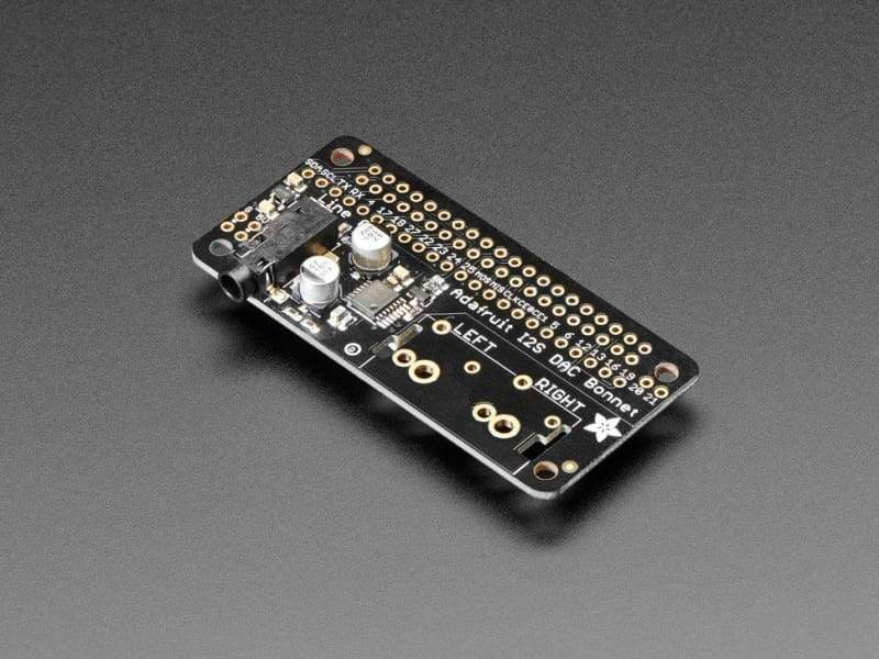Adafruit I2S Audio Bonnet For Raspberry Pi - Uda1334A (Id: 4037) - Audio