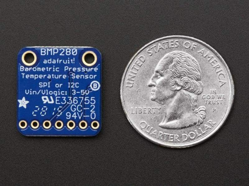 Bmp280 I2C Or Spi Barometric Pressure & Altitude Sensor (Loose Headers) (Id: 2651) - Temperature And Pressure