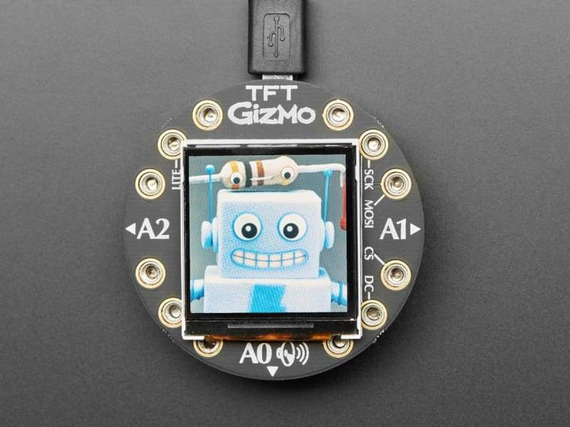 Circuit Playground TFT Gizmo - Bolt-on Display + Audio Amplifier (ID: 4367) - Education