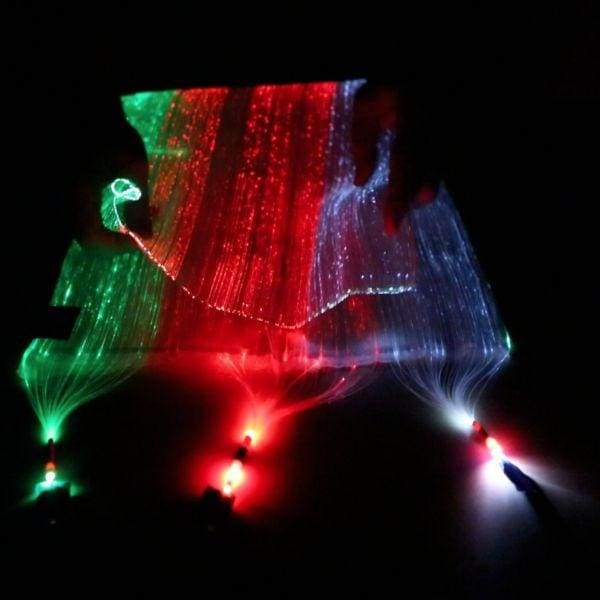 Fiber Optic Fabric - Black (30x30cm) - Fabric and Thread