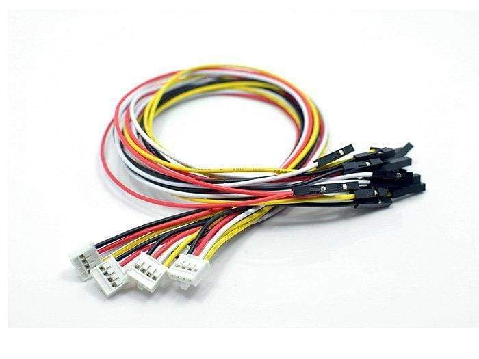 Grove - 4 Pin Female Jumper To Grove 4 Pin Conversion Cable (5 Pcs Per Pack) - Cables And Adapters