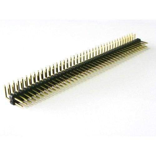 Header Row Right Angle 2 Rows (Pin/male) - Connectors