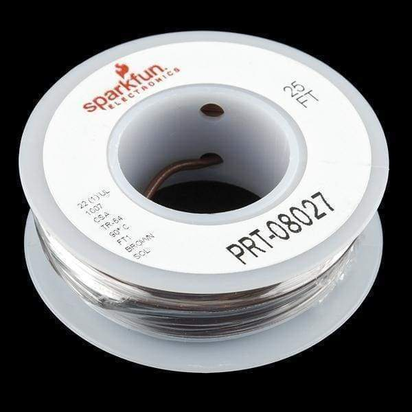 Hook-Up Wire - Brown - Solid Core (Prt-08027) - Cables And Adapters