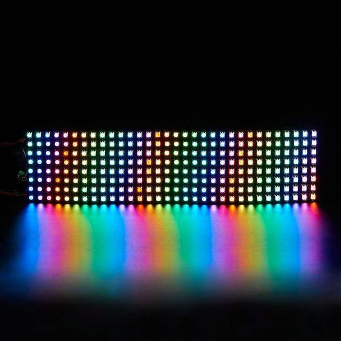 Led Flexible Matrix - 8X32 - 80Mm X 320Mm - Sk9822 (Adafruit Dotstar Compatible) - Led Displays