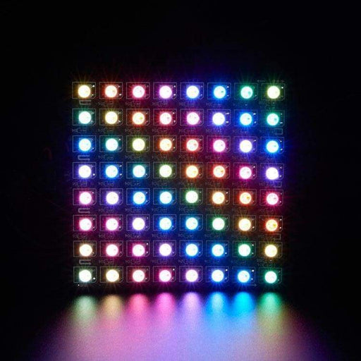 Led Flexible Matrix - 8X8 - 80Mm X 80Mm - Sk6812 (Adafruit Neopixel Compatible) - Led Displays