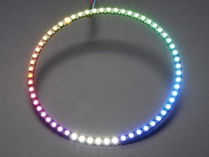 Neopixel 1/4 60 Ring - 5050 Rgbw Led W/ Integrated Drivers - Cool White (Id: 2875) - Leds