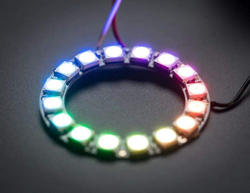 Neopixel Ring - 16 X Ws2812 5050 Rgb Led With Integrated Drivers (Id: 1463) - Leds