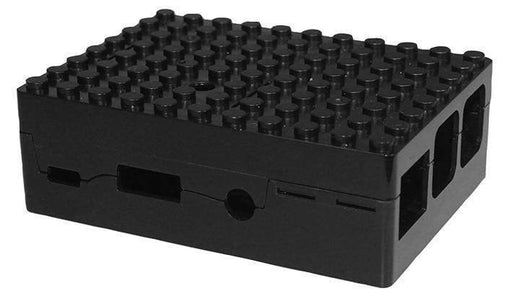 Pi-Blox Lego® Compatible Case For Raspberry Pi + Pi Camera - Black - Boxes