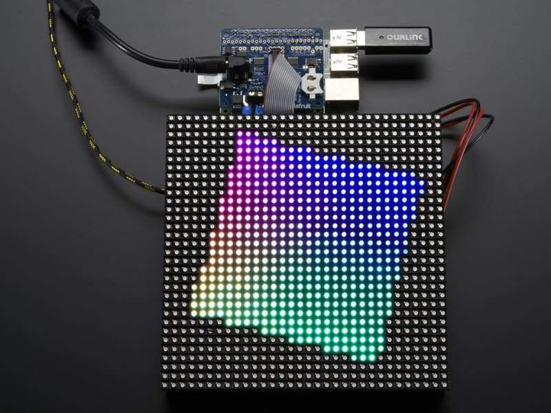 Rgb Matrix Hat + Rtc For Raspberry Pi - Mini Kit (Id: 2345) - Accessories And Breakout Boards