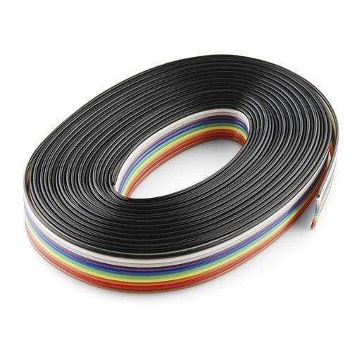 Ribbon Cable - 10 Wire (15Ft) - Cables And Adapters