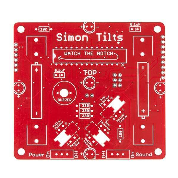 Simon Tilts - Through-Hole Soldering Kit (Kit-12634) - Soldering