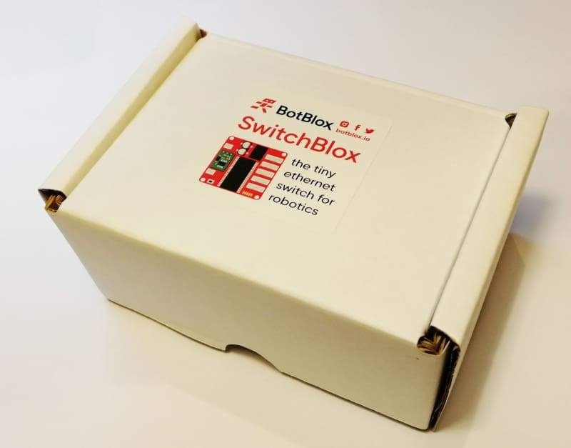 SwitchBlox - A Tiny 5 port Ethernet Switch Designed for Robotics - Robot
