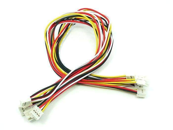Universal 4 Pin Buckled 30Cm Cable (5 Pcs Pack) - Grove