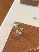 Load image into Gallery viewer, New beginnings - Sterling Silver Ring with a beautiful Peridot stone