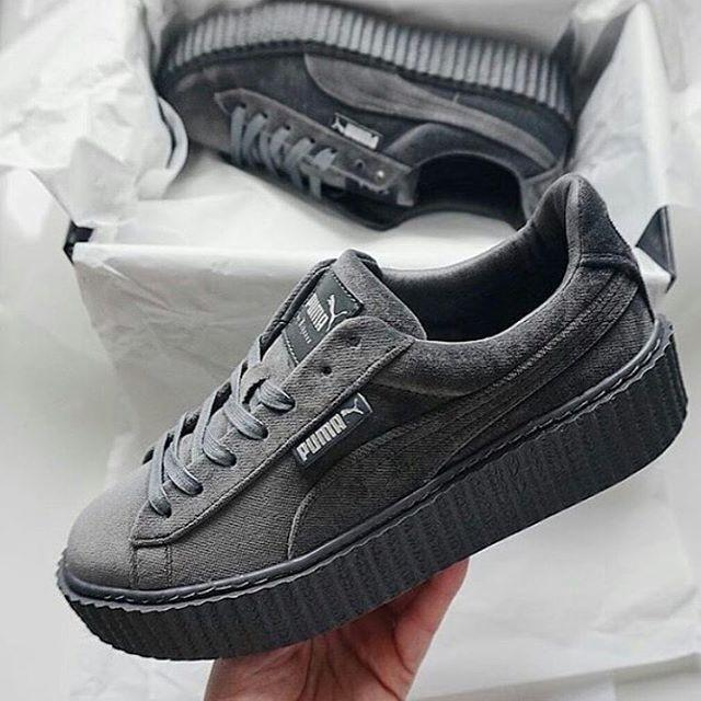 quality design d4390 1c321 PUMA by Rihanna Velvet Creeper 'Cement'