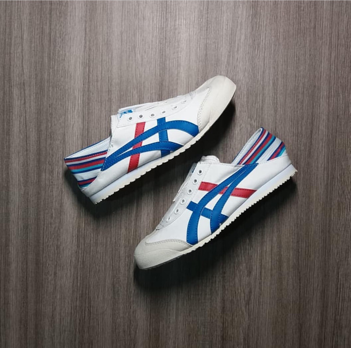 free shipping 8a268 f0d71 Onitsuka Tiger Mexico 66 Slip On Paraty White Red Blue