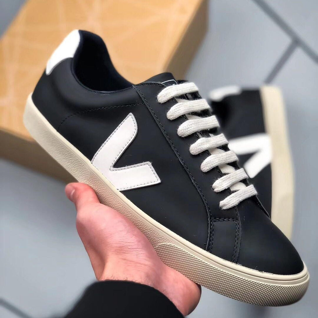 Veja Leather Extra Sneakers Black