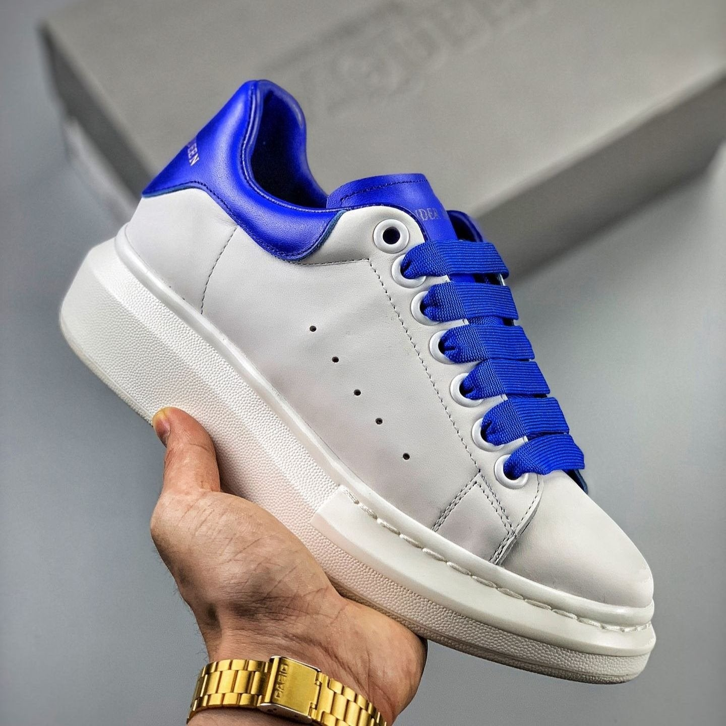 Alexander McQueen Oversized Sneakers  'Blue/White'