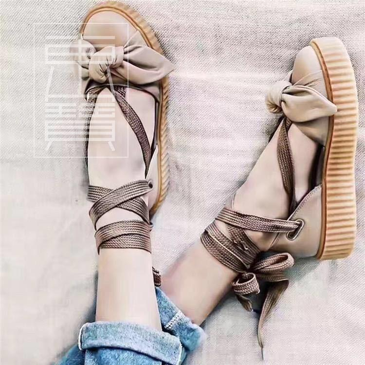 new styles 58ce4 4cbbe Puma Fenty x Rihanna Bow Creeper Sandals 'Natural/Oatmeal'