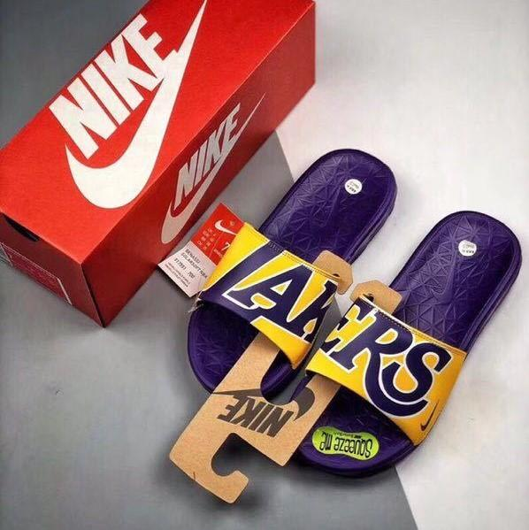 "NBA Sport BENASSI SOLARSOFT Slide Sandal ""Los Angeles Lakers"""