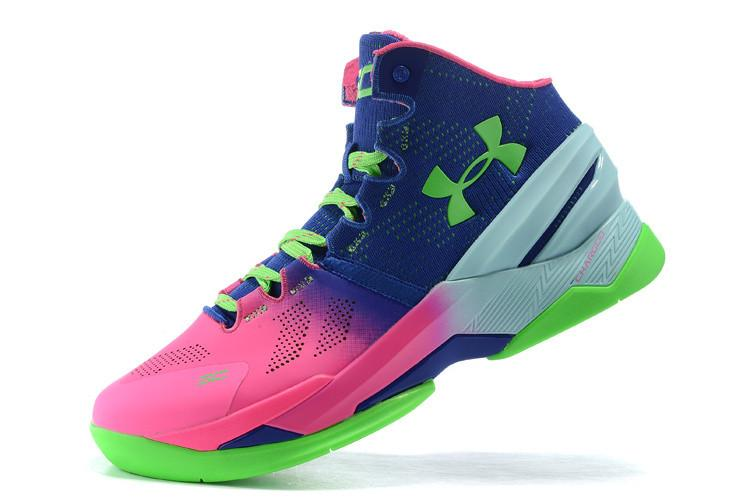 UA Stephen Curry 2 Pink Blue