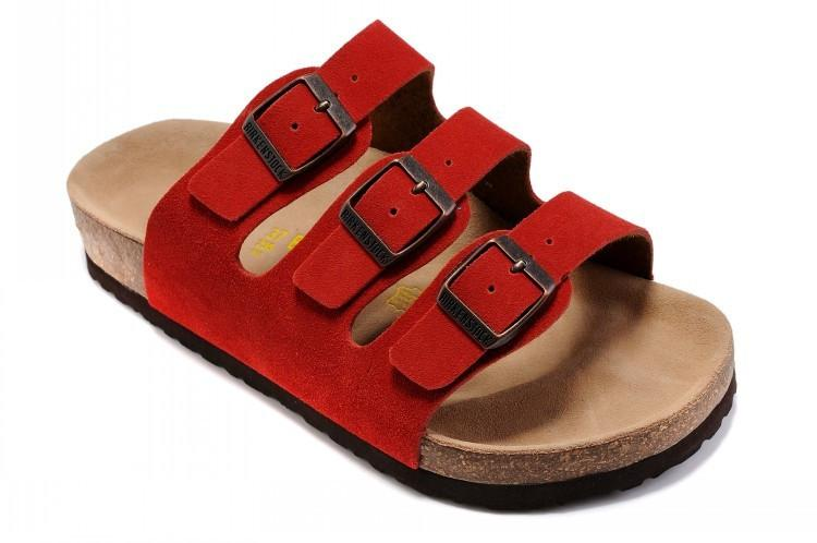 Birkenstock Florida Suede Red