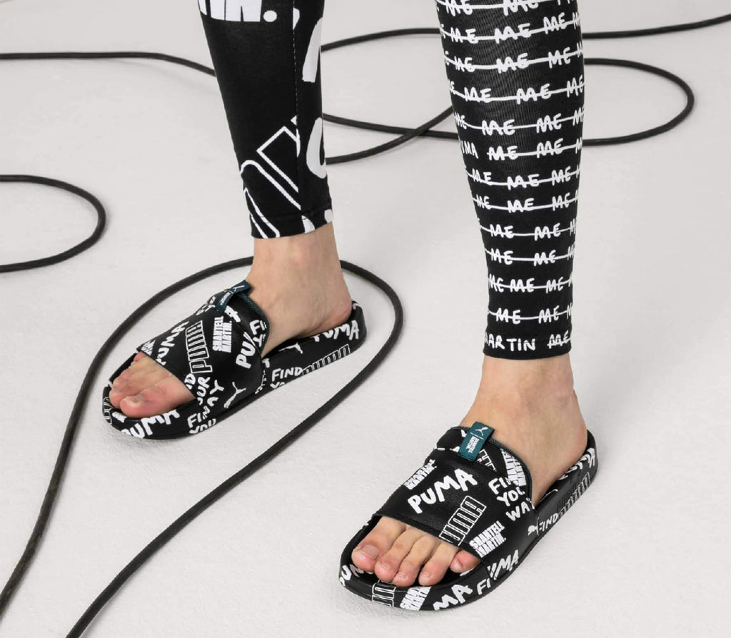 PUMA x Shantell Martin Leadcat Graphic Slides Black