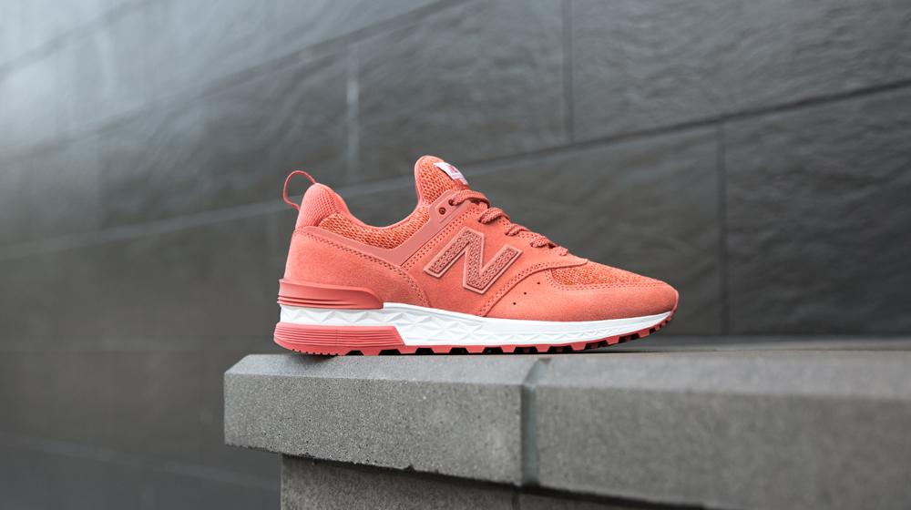 best sneakers 1a6aa b70cd New Balance 574 Sport Suede Pack 'Copper Rose with White'