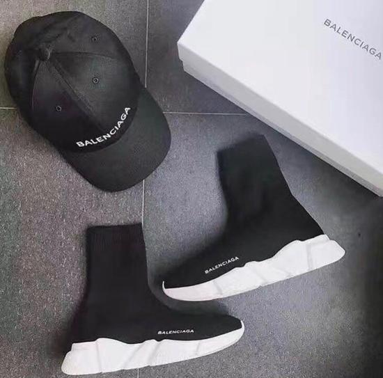 c3cce7cd266 Balenciaga Speed Trainers 'Black / White'