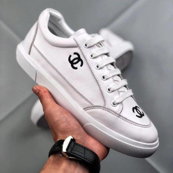 Chanel 2018ss Vintage Sneakers Embroidered Logo
