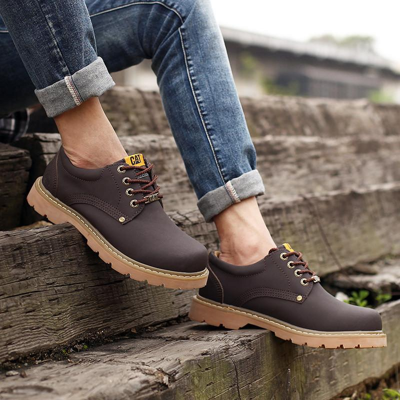 Caterpillar Boots Dark Brown