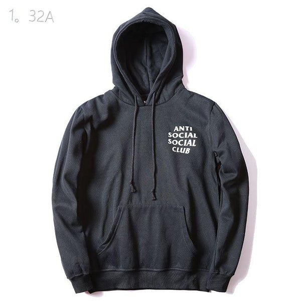 Anti Social Social Club Black/White Word Hoodie