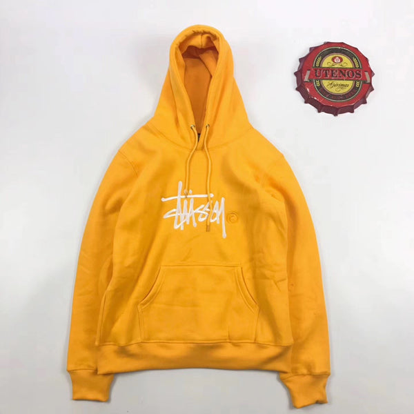 Stussy Logo Embroidered Color Hoodie