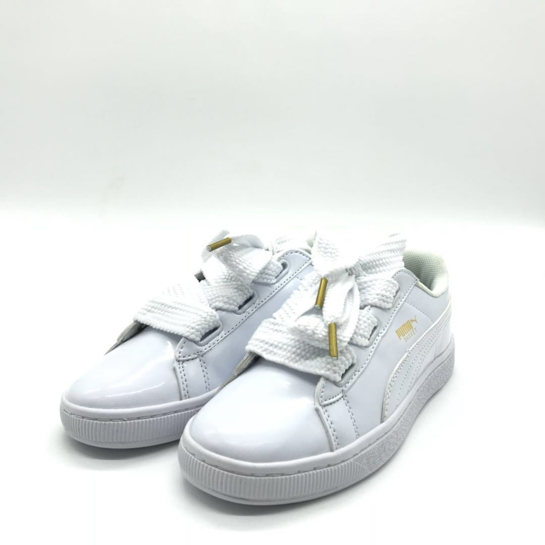new arrival 18077 d91ad PUMA Basket Heart Patent 'White' -37