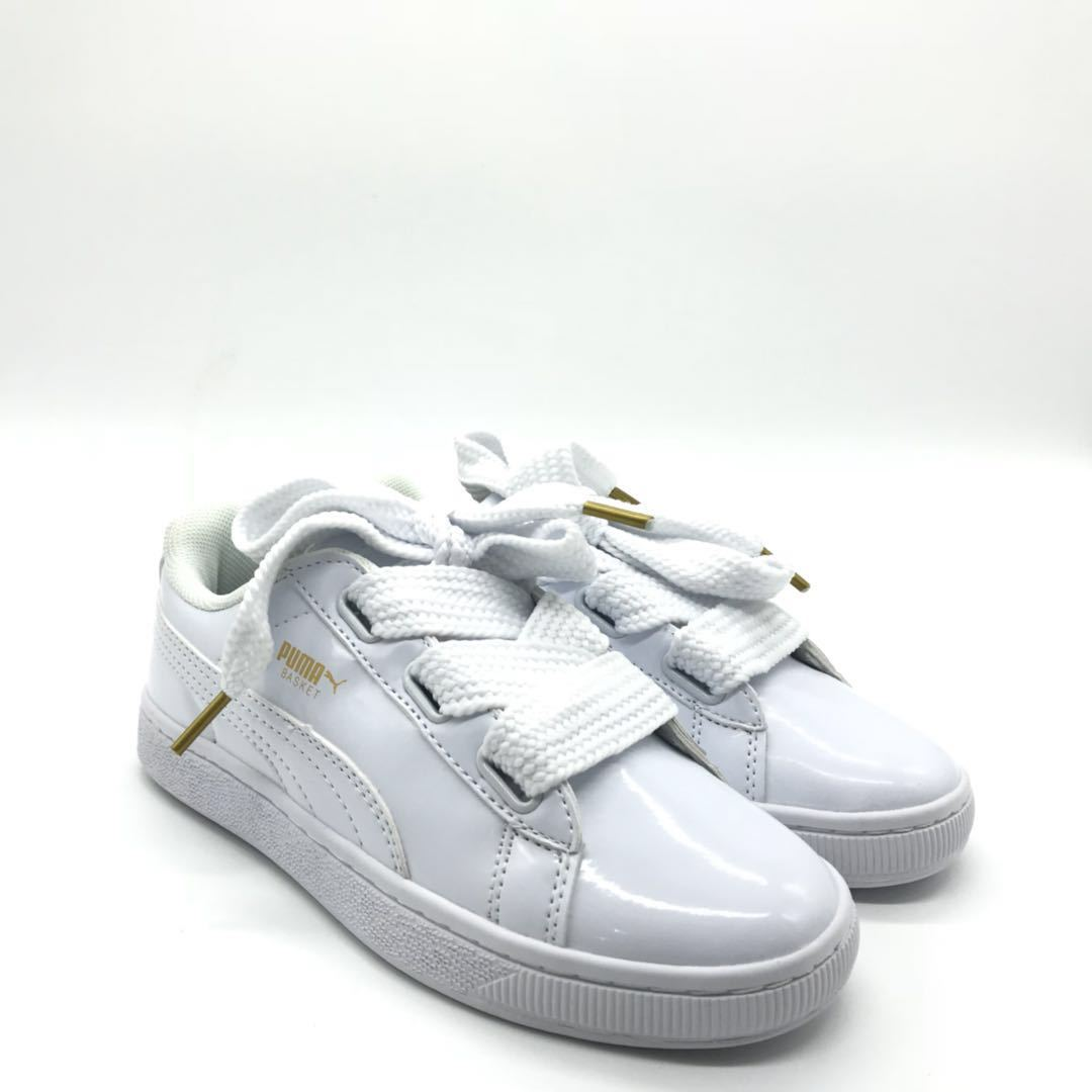 new arrival 8fb4a aa518 PUMA Basket Heart Patent 'White' -37