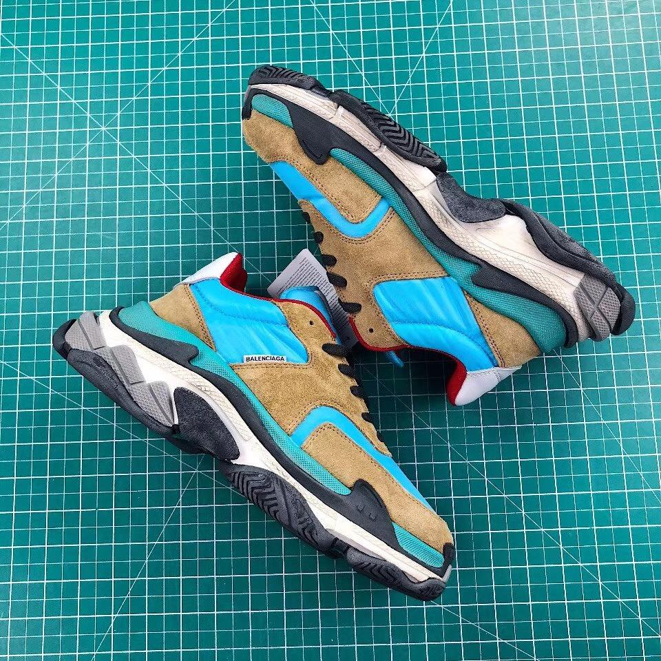 "Balenciaga Triple-S Sneaker 2.0 ""Blue/Brown"" (Tmall ORIGINAL)"