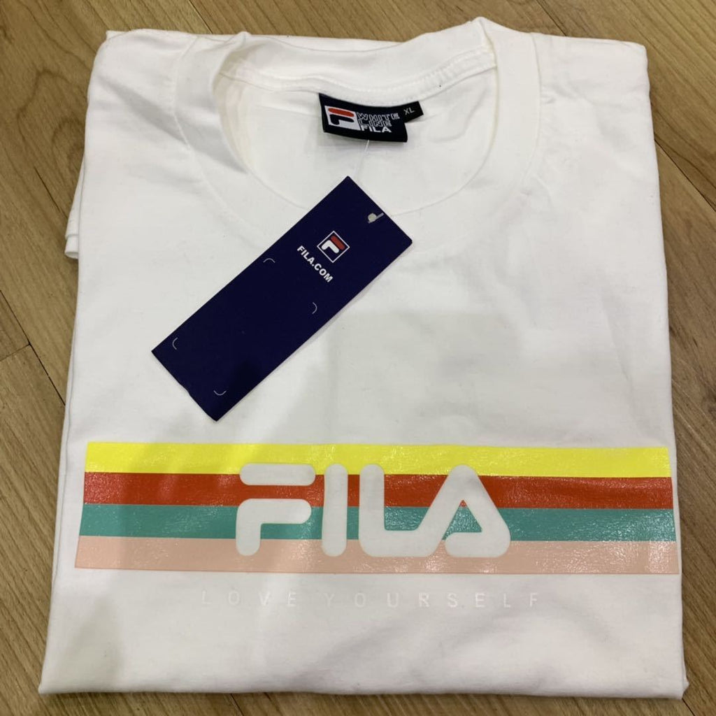Fila Rainbow White Tee - XL size