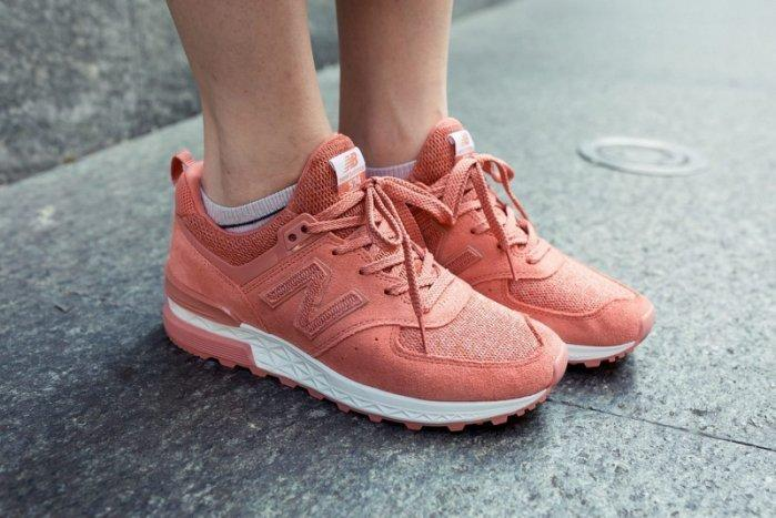 best sneakers 59d4b adba4 New Balance 574 Sport Suede Pack 'Copper Rose with White'