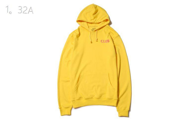 Anti Social Social Club Yellow 'Pink Club' Hoodie