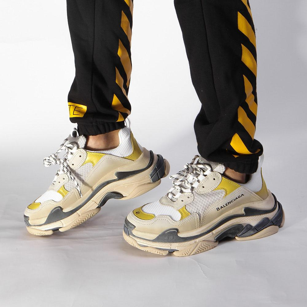 best value great deals really cheap Balenciaga Triple S 18ss White/Yellow