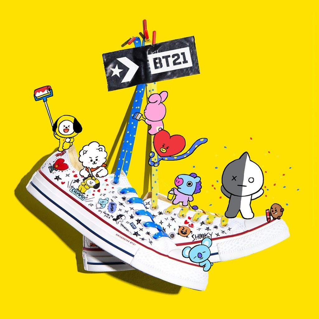 ''white'Low Converse Bt21 Taylor Chuck Star X All Top hQrdtsC