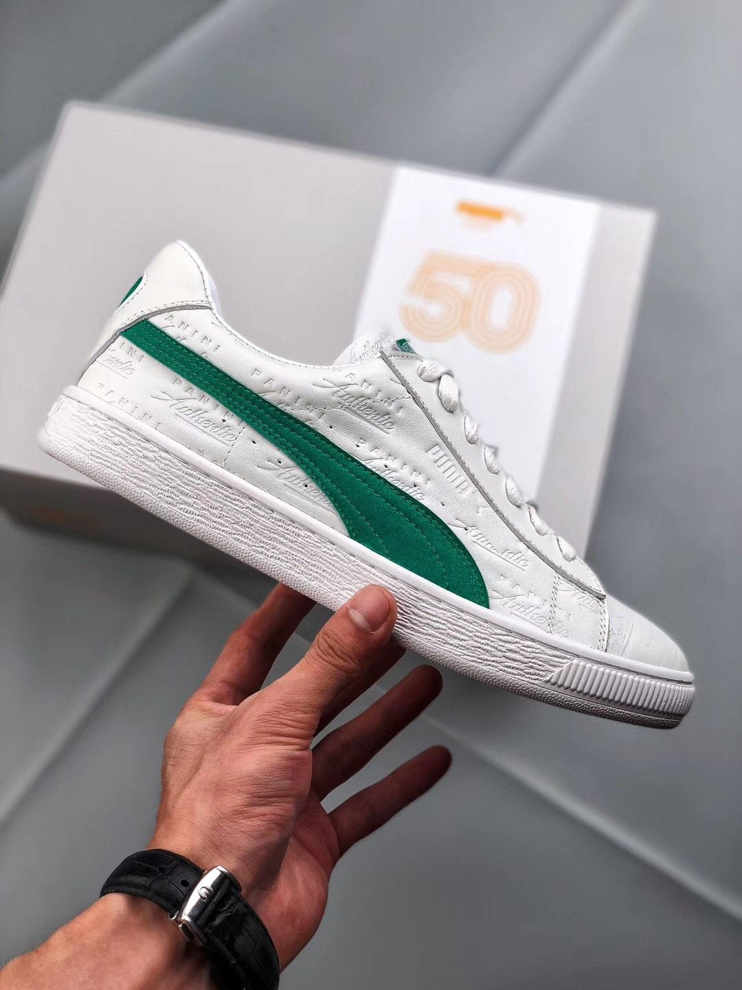 finest selection 9ea3c a7249 Puma x Panini Suede Classic Green