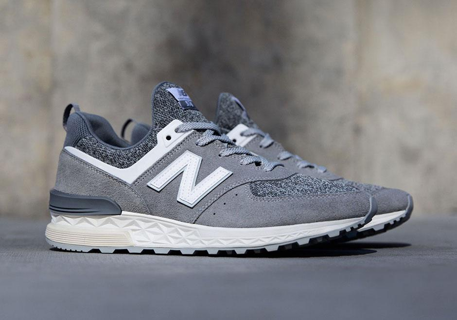 buy online ede01 6058b New Balance 574 Sport Suede Pack 'Castlerock with White'