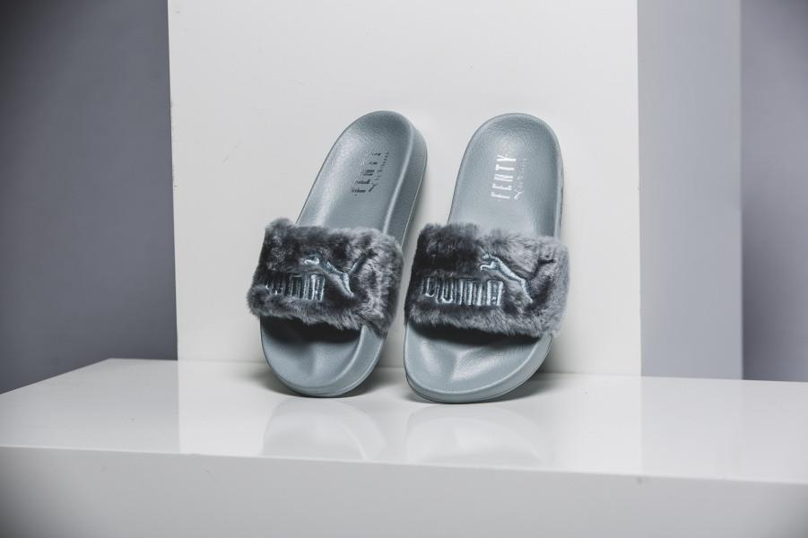 buy popular 23afd 05f72 Puma Fenty by Rihanna 'Leadcat Fenty' Faux Fur Slide